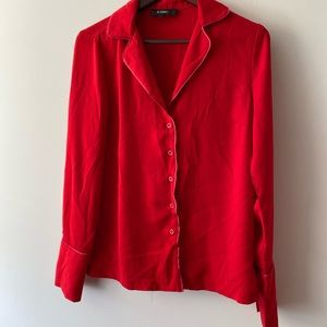 Icone/Simons Button Up Top Long Sleeve Small
